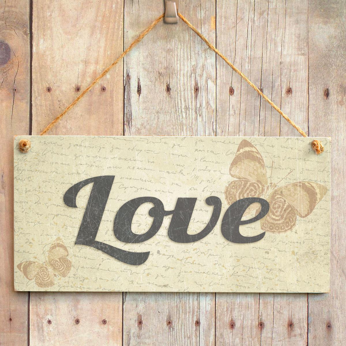 Love Handmade Shabby Chic Home Decor Sign Plaque