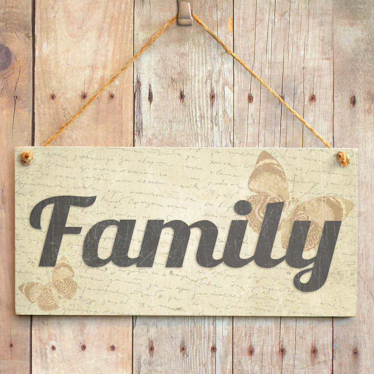 Family Home Decor: Handmade Shabby Chic Home Decor Sign Plaque