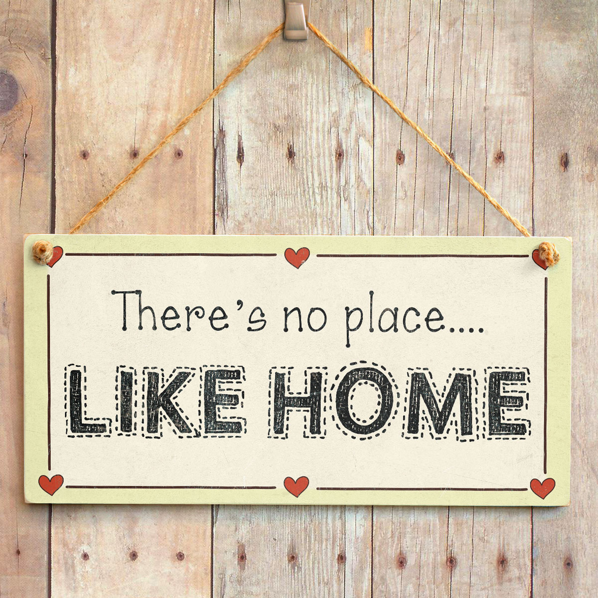 Welcome Home Love Heart Sign