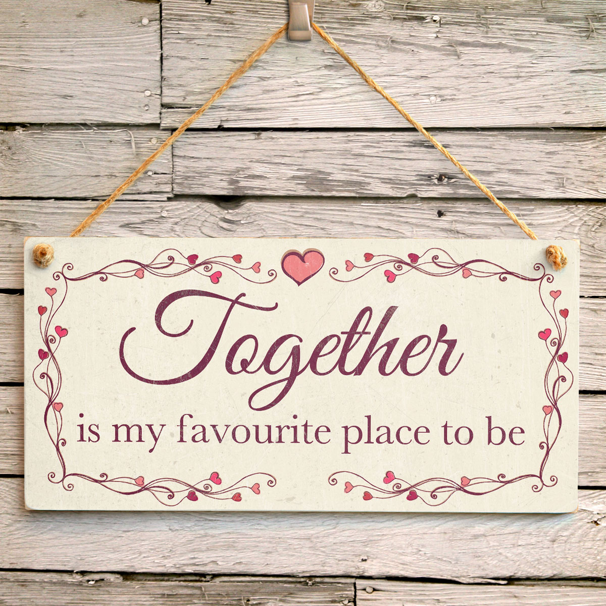 Together Is My Favourite Place To Be Romantic Gift Idea For Couples Beautiful Love Heart