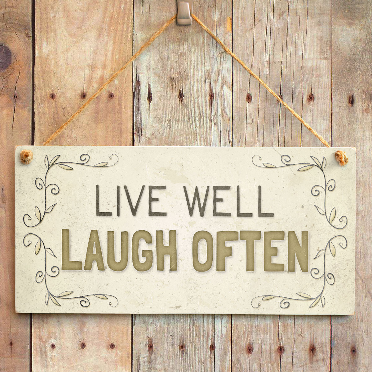 Live Well Laugh Often - Lovely Home Accessory Gift Sign ...