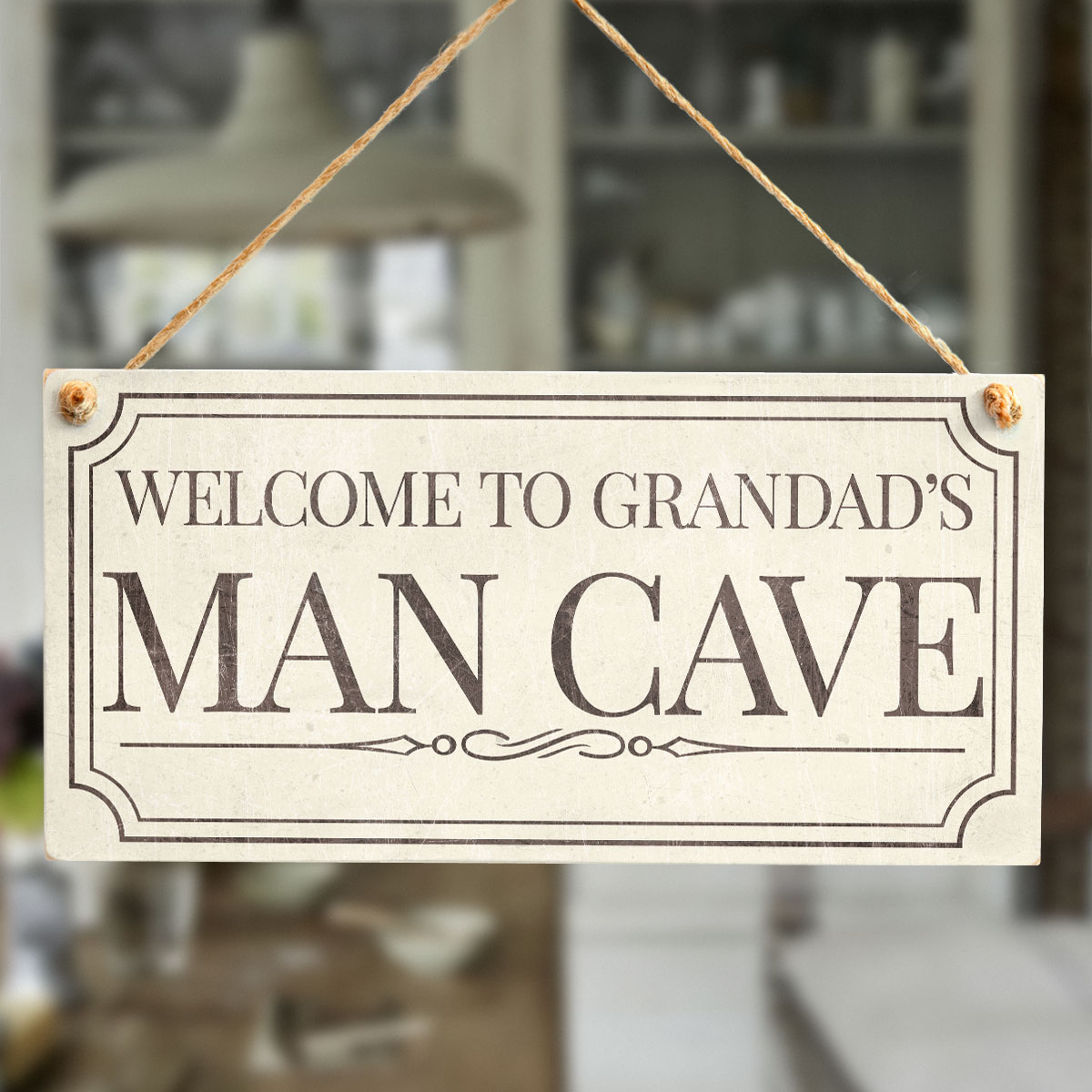 Homemade Man Cave Signs : Welcome to grandad s man cave fun traditional design