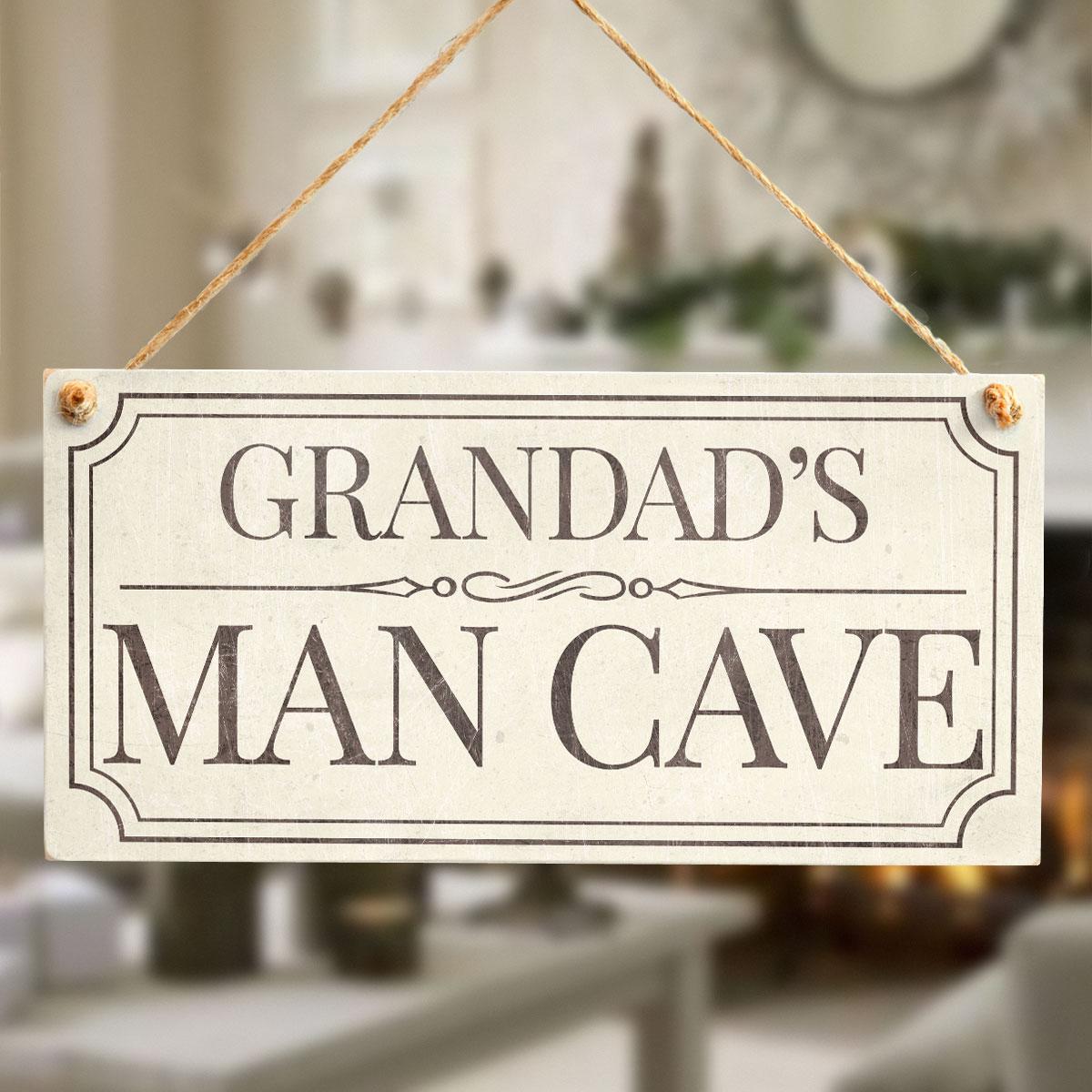Handmade Man Cave Signs : Grandad s man cave fun traditional design style handmade