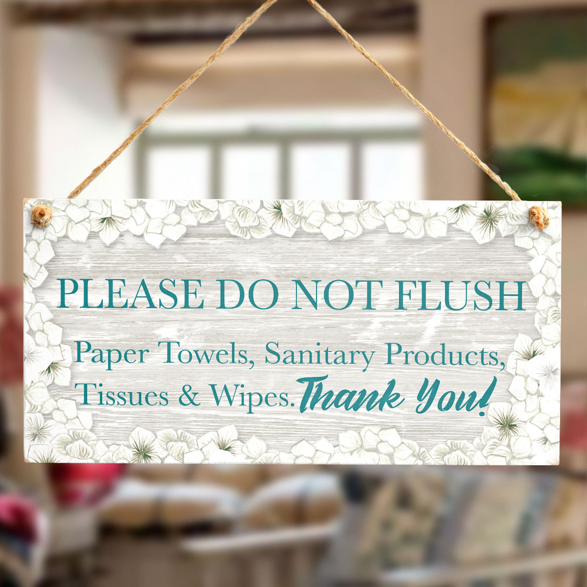 Please Do Not Flush Paper Towels Sanitary Products