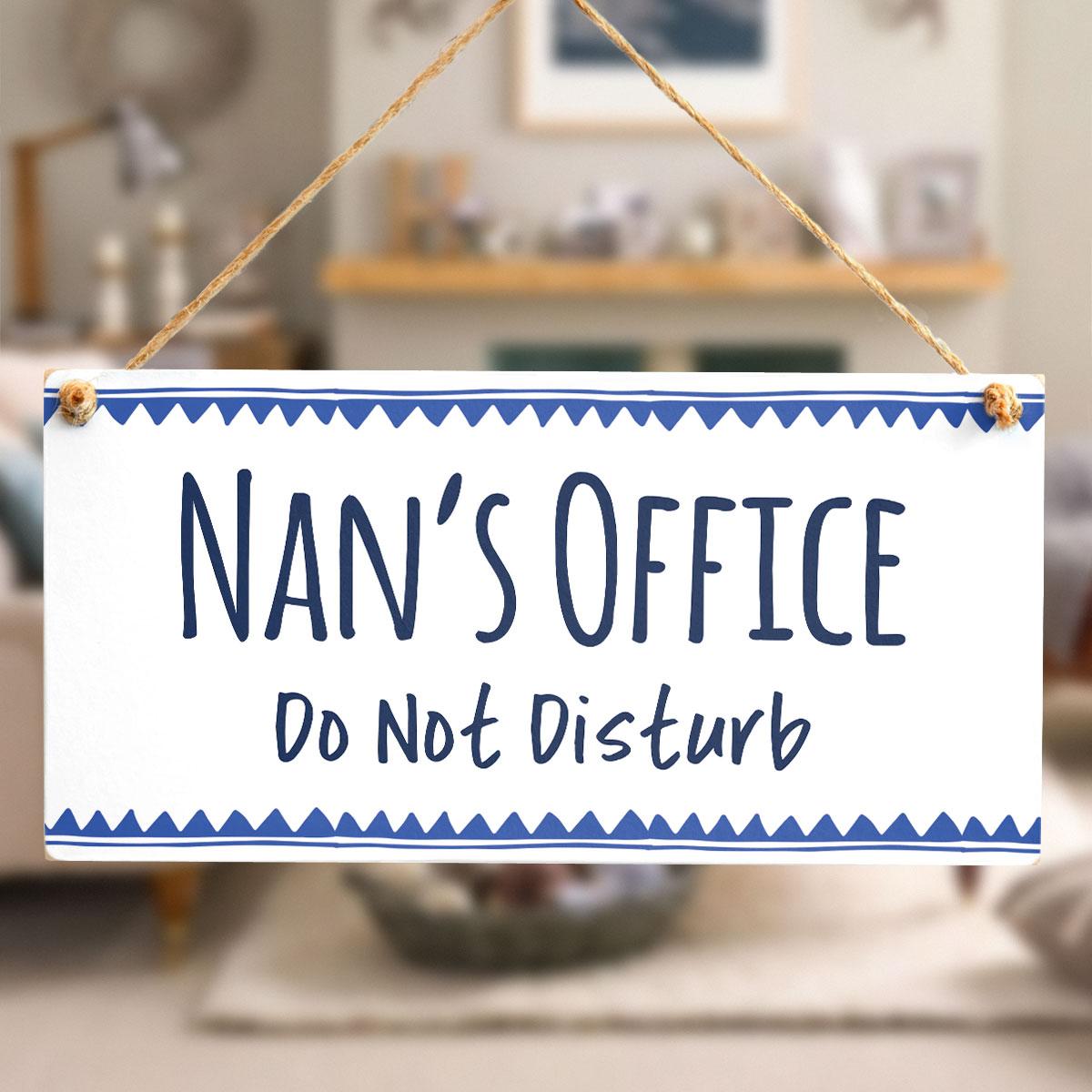 Nan\u0027s Office Do Not Disturb \u2013 Stylish Office Door Plaque With Blue Border  sc 1 st  ButtonHillCottage & Nan\u0027s Office Do Not Disturb - Stylish Office Door Plaque With Blue ...
