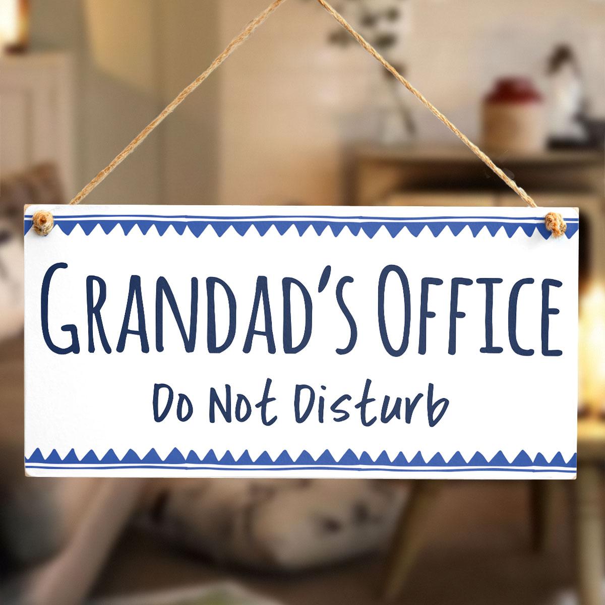 grandad s office do not disturb hanging office door sign great