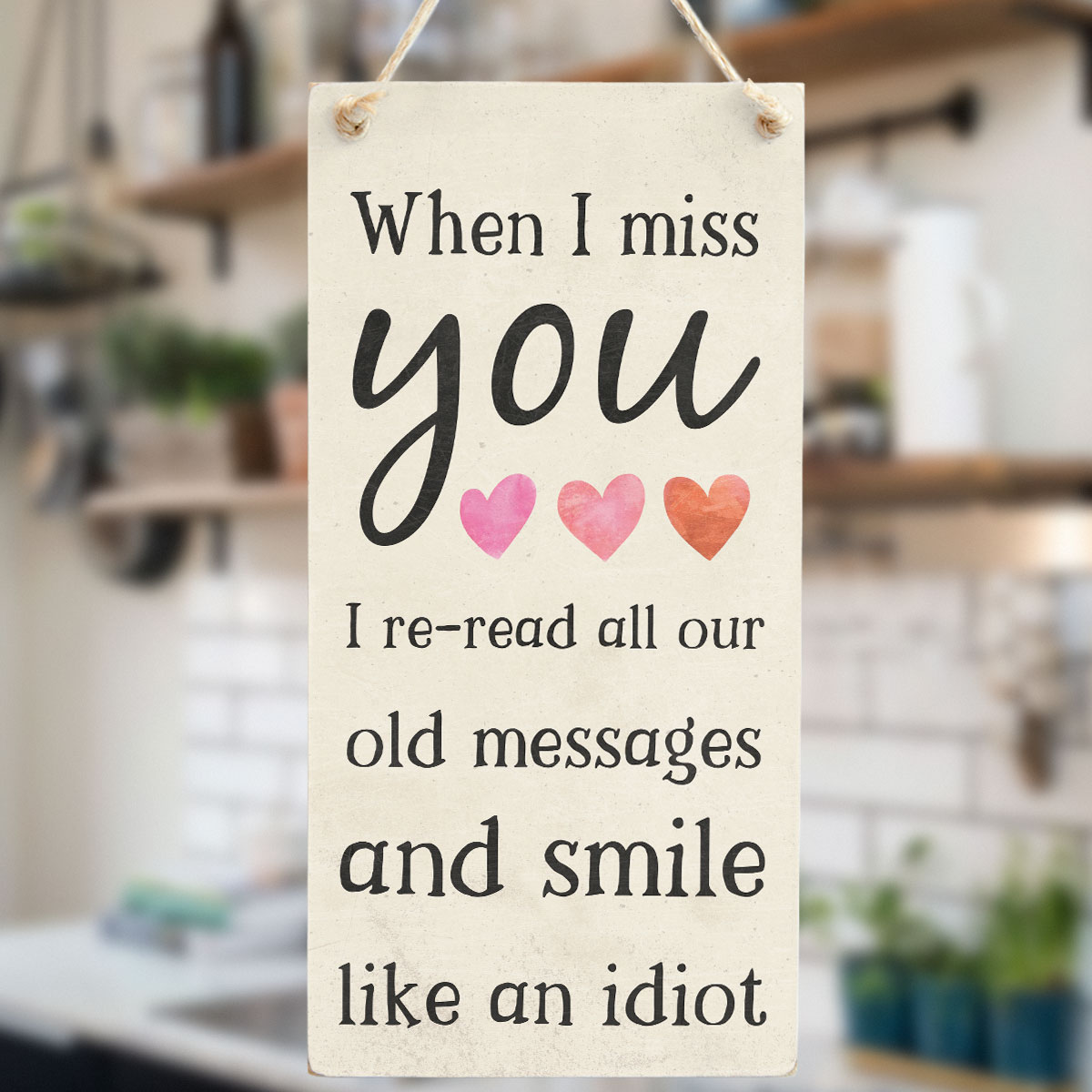 When I Miss You Re Read All Our Old Messages And Smile Like An Idiot Lovely Gift Idea For Girlfriend Or Boyfriends Birthday Long Distance Relationship